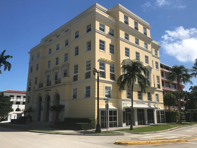 A landmarked six-story building at 450 Royal Palm Way at the Palm Beach foot of the Royal Park Bridge has been sold for a recorded $17 million by the real estate investment company that bought it a little more than a year ago.