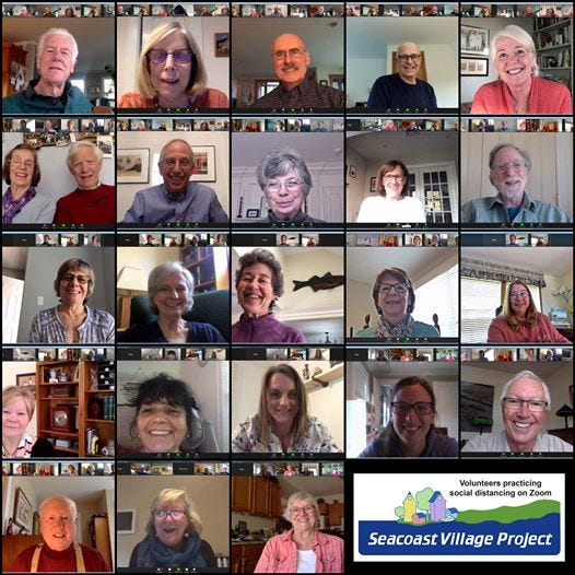 Seacoast Village Project members connect via Zoom