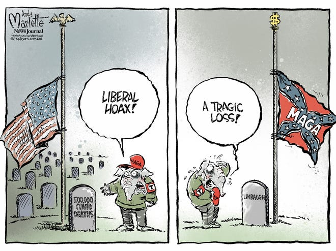 Marlette Editorial Cartoon-Limbaugh Flag