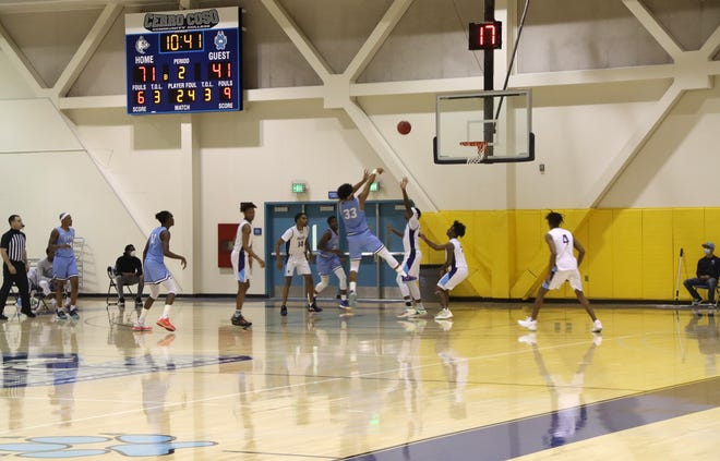 Shawn Sanderlin (33) puts two on the board for the Coyotes during Wednesday night's home opener.