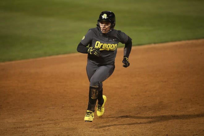 Freshman shortstop Alyssa Brito is the Pac-12 freshman of the week after leading the Ducks to a sweep at Fresno State.