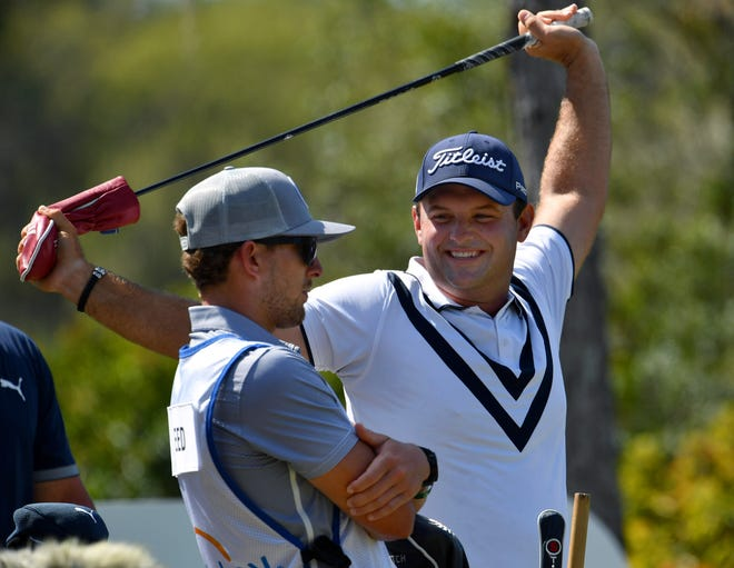 Patrick Reed seemed relaxed before teeing off on the 410-yard, par 4, 10th hole, during the second round of the World Golf Championships-Workday Championship at The Concession on Friday in Bradenton.