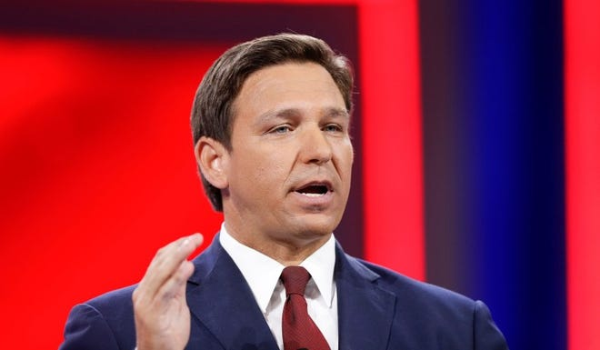 "Florida Gov. Ron DeSantis called the state an ""oasis of freedom"" recently during the Conservative Political Action Conference in Orlando."
