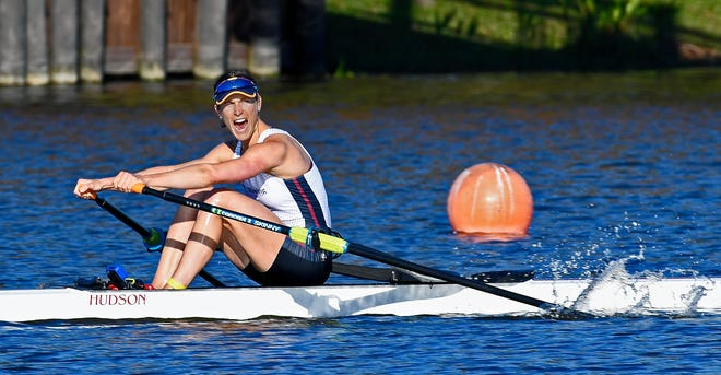 Kara Kohler rows to first place in the women's single sculls at Friday's U.S. Olympic Rowing Trials held at Nathan Benderson Park. The win put Kohler on the U.S. Olympic Rowing Team for Summer Olympic Games in Tokyo held July 23-Aug. 8..