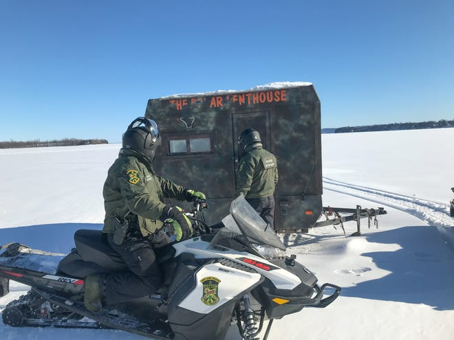 Ice shanties in Vermont must be removed from bodies of water before the ice becomes unstable or by the last Sunday in March, whichever comes first, according to the Vermont Department of Fish and Wildlife.