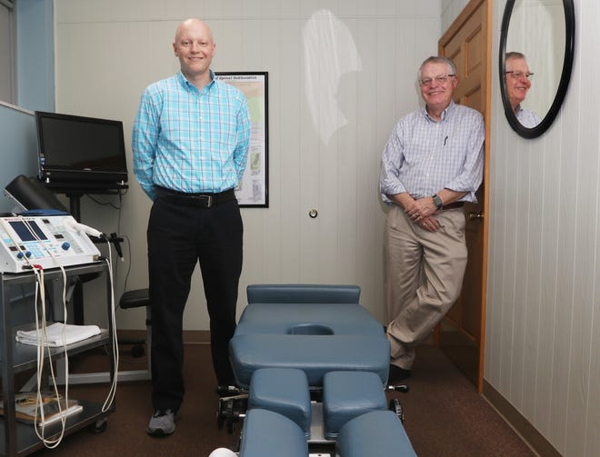 "John ""Jake"" Snyder III and his father John II practice together at the Coshocton Chiropractic Health Center. Dr. Jake is the fourth generation of chiropractors in the family."