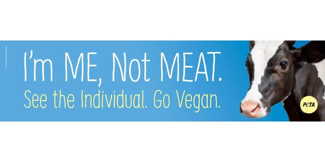 """After a livestock hauler flipped over on Interstate 94 earlier this week, PETA plans to place a billboard near the crash site proclaiming, """"See the Individual. Go Vegan."""""""