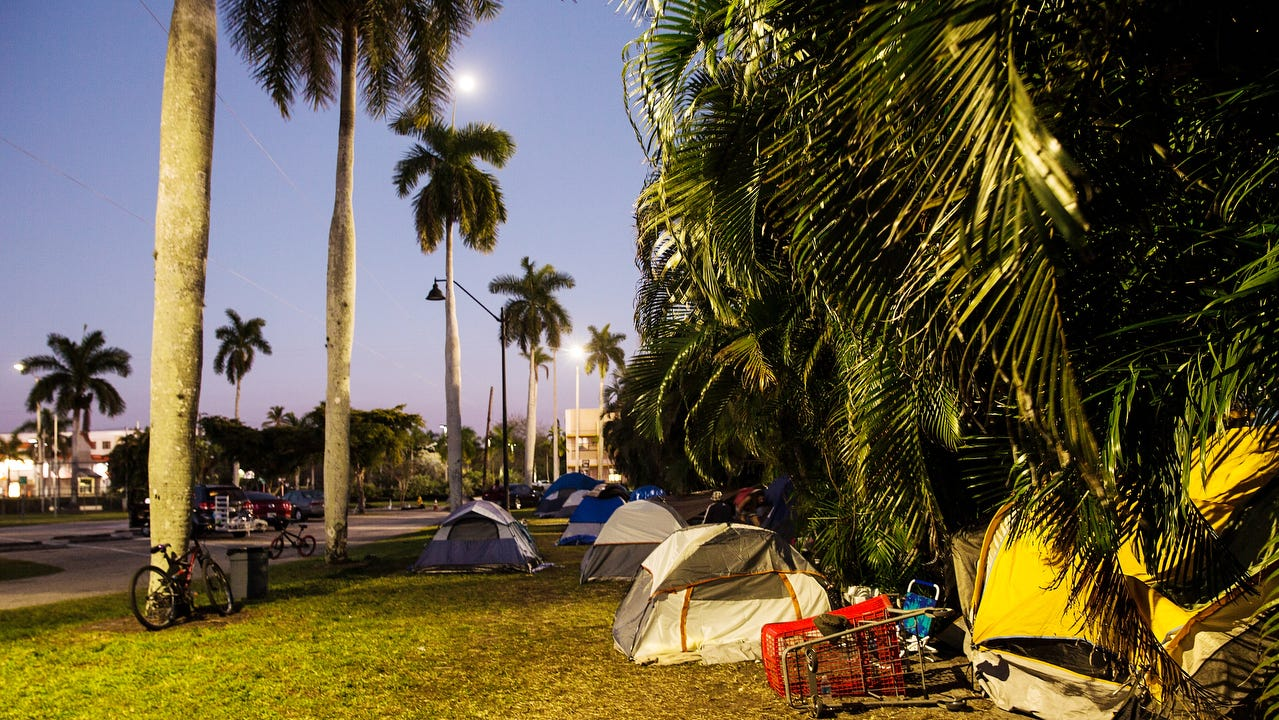 A large population of homeless invidiuals have taken up residence at Lions Park in Fort Myers over the last several months.