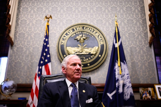 Gov. Henry McMaster talks about the state's coronavirus efforts since the beginning of the pandemic to now in his office at the South Carolina State House Friday, Feb. 19, 2021.