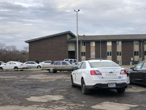 A person was stabbed and later died at Eskenazi Hospital at an apartment on the 3900 block of North Shadeland Avenue.