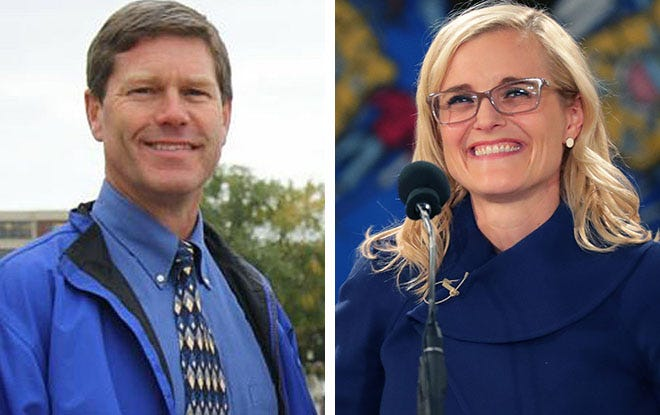 U.S. Rep Ron Kind, left, and Wisconsin state Treasurer Sarah Godlewski.