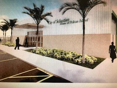 Sebastian's new Public Works garage will have administrative offices and work areas for several city departments. Completion of the $9.1 million project is expected in May 2022.