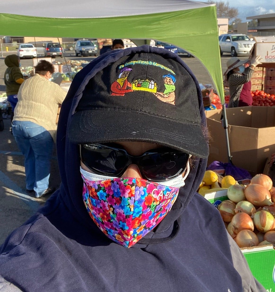 Farmworker Carmen Obeso helps lead a volunteer group that provides food and other goods for farmworkers.