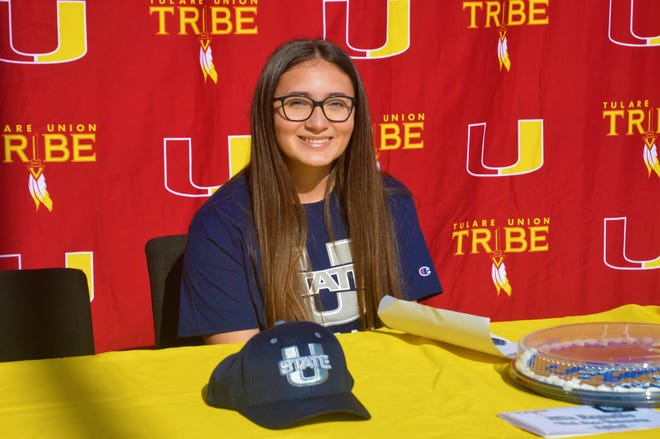 Tulare Union High School's Mia Reynolds will play softball next season at Utah State.