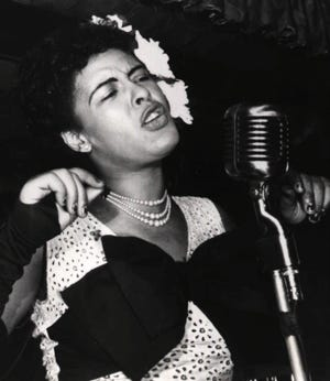 "Jazz icon Billie Holiday, now the subject of Hulu biopic ""The United States vs. Billie Holiday."""