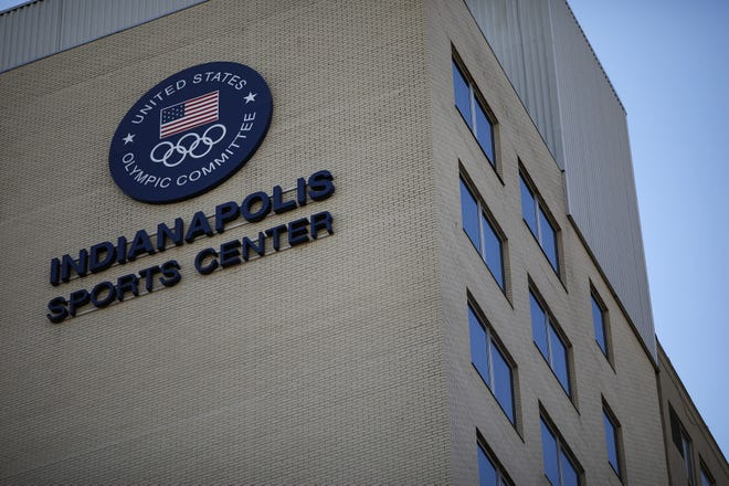 The offices of USA Gymnastics from a 2018 file photo in Indianapolis.