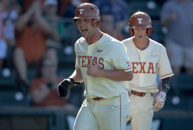 Zach Zubia has 20 home runs as a Longhorn, but Friday night's was his first inside-the-park homer.