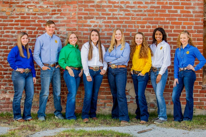 The 2021 Carter County Junior Livestock Show will be held on Wednesday and Thursday at the Hardy Murphy Coliseum. Pictured are the current Junior Livestock Youth Ambassadors who serve as link between younger students and adults and will be helping with the show as well as showing their own animals. From Left to right: Piper Dudley and Barrett Allen from Dickson FFA, Emma Moore from Plainview 4-H, Lexi Henderson and Cassidy Baughman from Lone Grove FFA, Presley Tivis and Daja Petties from Fox FFA and Danielle Brooks from Wilson FFA.