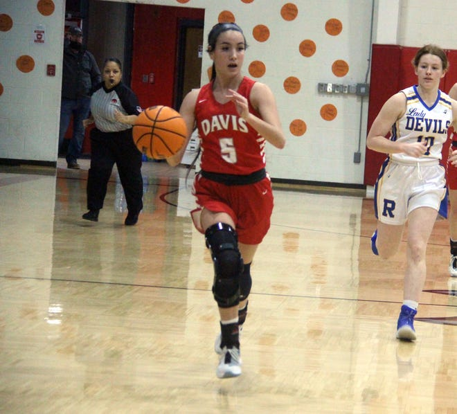 Davis' Jacie LaNoy scored 10 points on Saturday to help the Lady Wolves hold off Purcell and advance to the Class 3A Area Tournament.