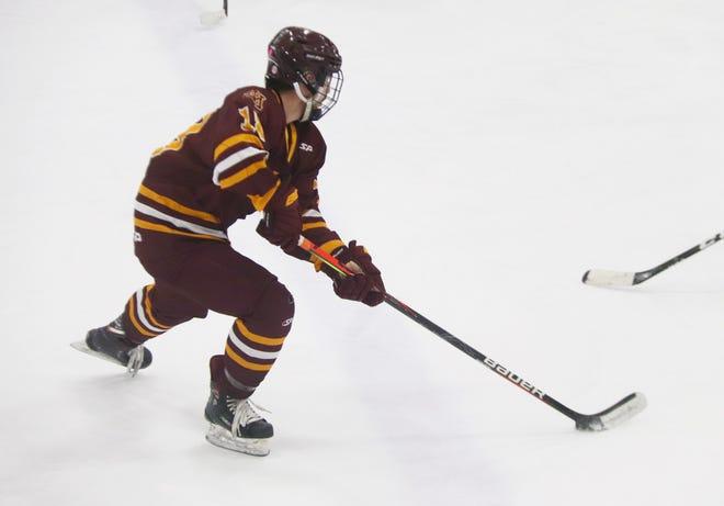 Casey Kallock led the Minnesota Crookston hockey team in scoring this season.