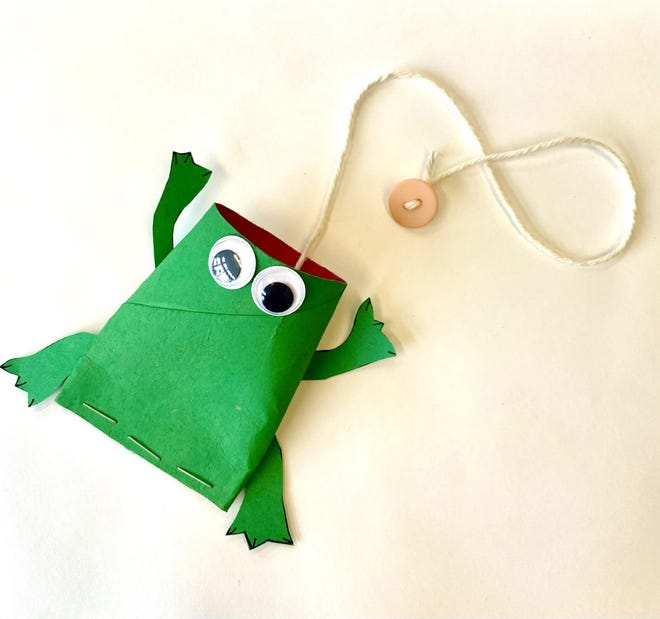 Rochester Public Library's latest Take It and Make It craft is a Frog Flycatcher and will be available starting March 6.