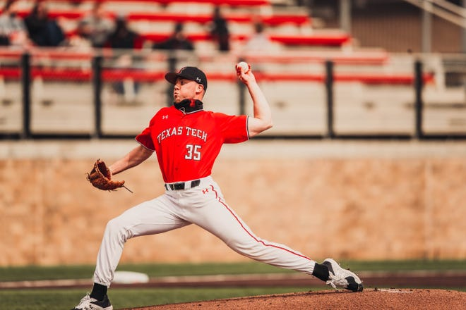 Texas Tech pitcher Patrick Monteverde is 5-0 with a 0.75 earned-run average going into this week's three-game Big 12 series that starts Thursday at Kansas State. Monteverde is scheduled to pitch Friday's game.