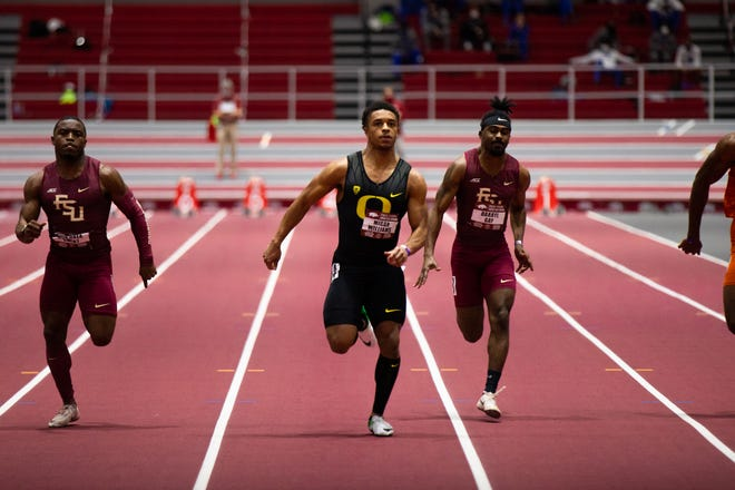 Freshman Micah Williams, who ran a school-record 6.56 seconds in the 60 meters earlier this season at the Razorback Invitational, reset his PR at 6.49 on Saturday.