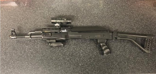 Though not a lethal fiream, this Airsoft rifle that a suspect aimed at officers in a January 25th incident had been altered by him to look real. He was shot twice by officers and treated and released from the hospital for his injuries. DA Scott Thomas has ruled the officer's gun fire as reasonable under the circumstances.