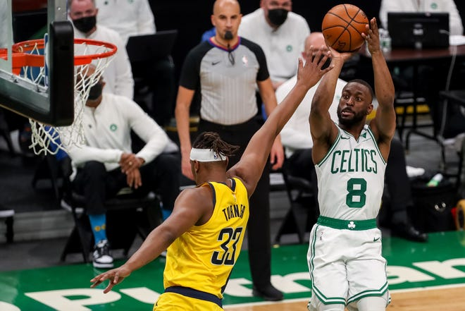 Celtics guard Kemba Walker poured in 32 points in Friday night's home victory over the Pacers.