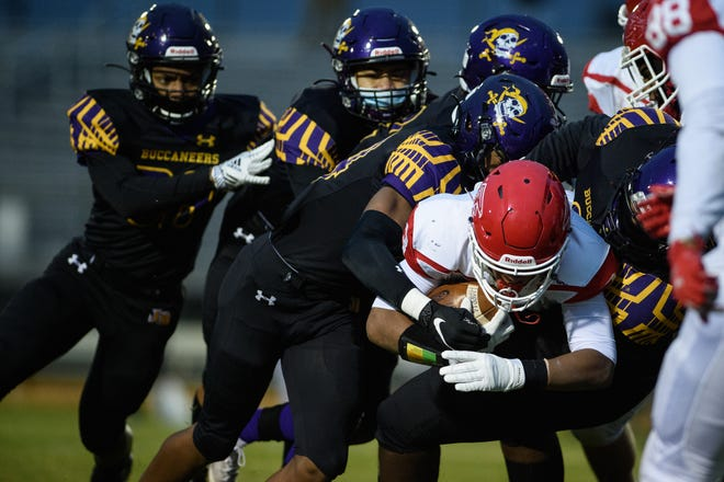 Unbeaten Jack Britt and its stout defense will close the regular season at Scotland with a chance to claim the Sandhills 4-A Conference title.