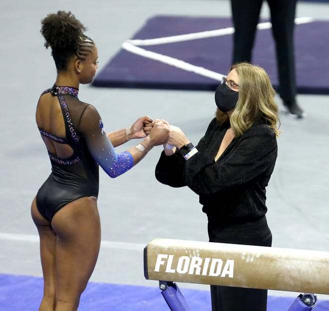Florida may be without the services of star Trinity Thomas at today's SEC Championship meet.