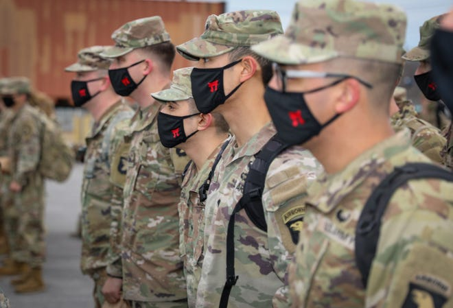 Fort Campbell's 101st Airborne Division deployed approximately 130 Soldiers to Orlando, Florida, on Feb. 26, 2021 to support the whole-of-government COVID-19 vaccination effort. Troops are part of the U.S. Army's effort to assist FEMA vaccination centers.