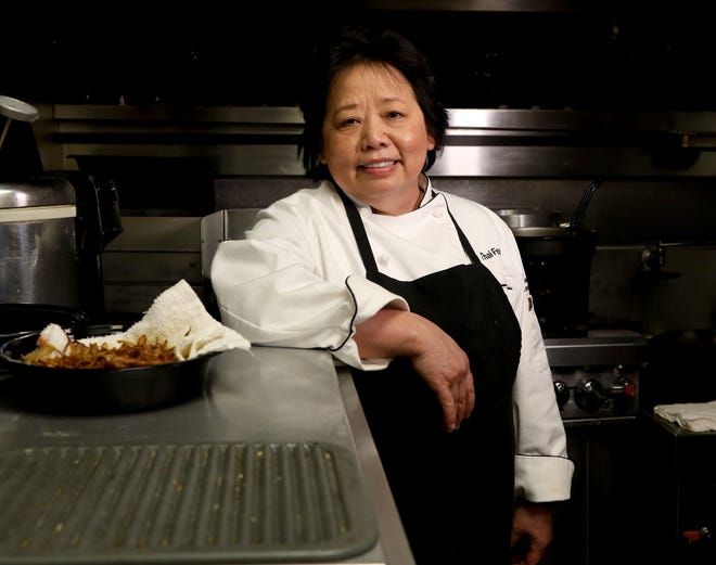 Genevieve Vang inside the kitchen of Bangkok 96 in Detroit on February 25, 2021, where she is the chef and owner.