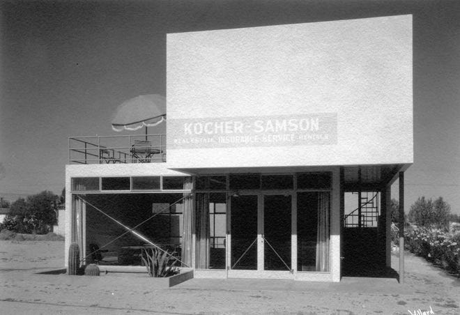Kocher-Samson building in Palm Springs designed by Albert Frey and built by Raymond Wilson