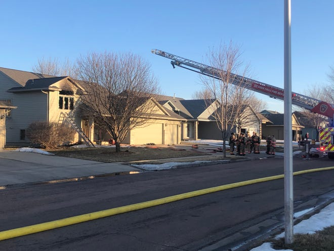 House damaged by a fire in the 3100 block of South Alpine Avenue.
