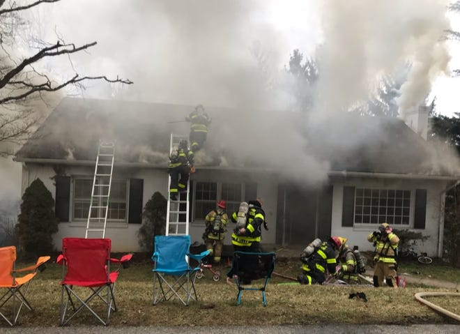 Firefighters were called to a home Friday on Skyland Drive.