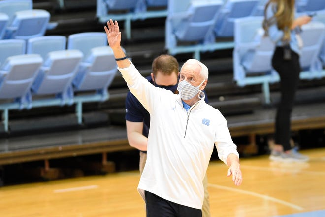 North Carolina head coach Roy Williams after securing his 900th career win at the Dean E. Smith Center.