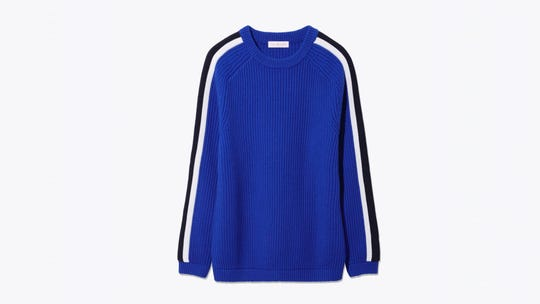 This sweater will work for cold winter days or chilly spring mornings.