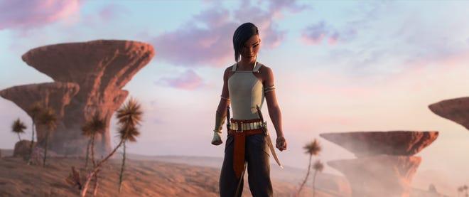 "Namaari (Gemma Chan) is a dangerous warrior loyal to her land in ""Raya and the Last Dragon."""