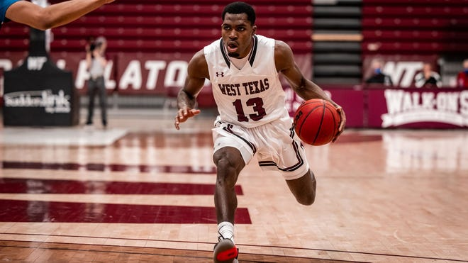 WT's Joel Murray finished with 31 points,6assistsand 5reboundsas No. 1 seeded West Texas A&M ousted No. 8 Daemen97-83 at Ford Center. They advance to Thursday's semifinal round where they'll face No. 4 Lincoln Memorial. [WTAMU file photo]