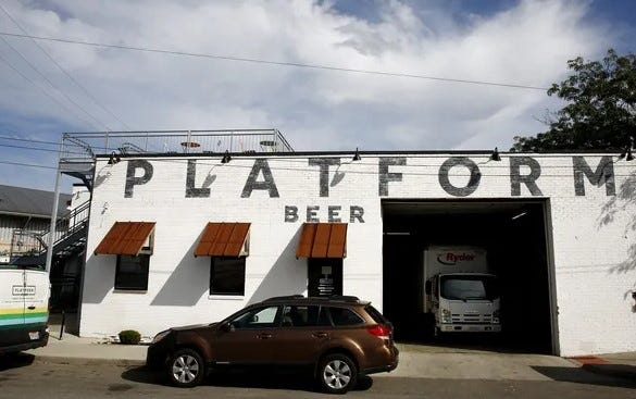Platform Beer's Columbus taproom, 408 N. 6th St., in a 2019 file photo.