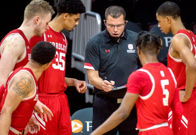 Bradley coach Brian Wardle and the Braves open the Paradise Jam with a game scheduled for noon Nov. 19 against Colorado State.