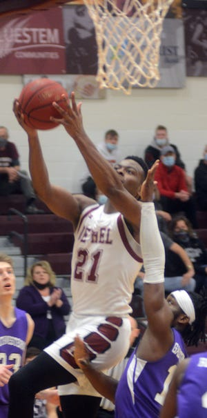 Bethel junior Jaylon Scott was named the KCAC Player of the Year, KCAC Defensive Player of the Year, first team All-KCAC and named to the KCAC All-Defensive Team. He scored 14 points with 16 rebounds and seven assists Saturday in the KCAC post-season tournament semifinals against Southwestern.