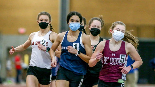 After her dominant indoor season, Moses Brown's Sophia Gorriaran was a no-brainer choice for the Providence Journal All-State Girls Indoor Track team.