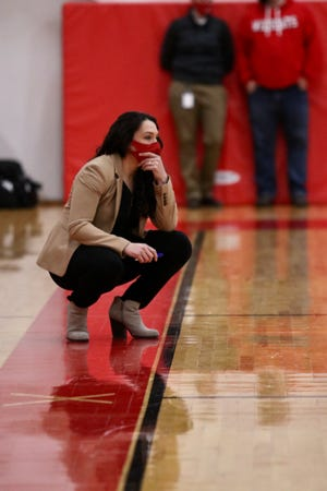 NFA girls basketball coach Courtney Gomez has guided the Wildcats to a 5-0 mark this season.