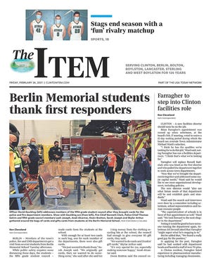 Front page of the Feb. 26, 2021 Item