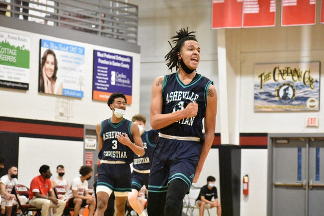 Asheville Christian junior forward De'Ante Green (13), a four-star recruit and the No. 1 player in North Carolina's class of 2022, is one of two notable prospects who announced official visits to UNC on Monday.