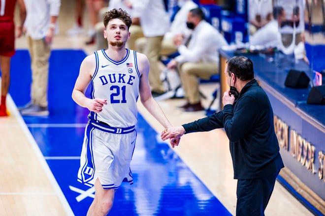 Duke Men's Basketball losses the University of Louisville Cardinals at the Cameron Indoor Stadium on February  27, 2021 at Durham, North Carolina.