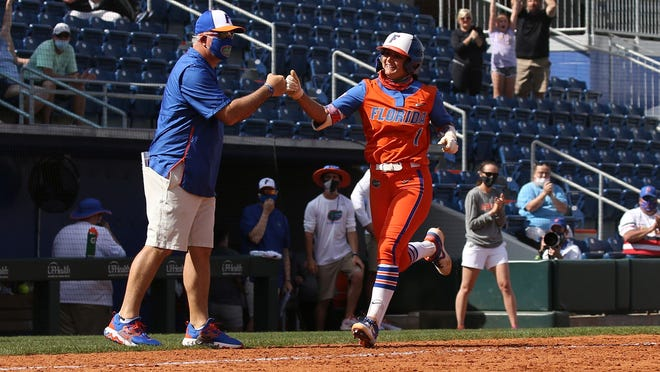 Hannah Adams' solo home run in the eighth inning against McNeese was her second walk-off hit of the season and fifth for the Gators since 2020.