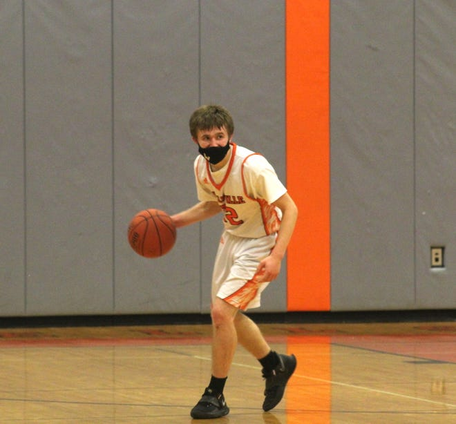 Wellsville's Liam McKinley controls the ball for the Lions.